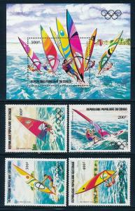 Congo - Los Angeles Olympic Games MNH Sports Set Sailing C305-9 (1984)