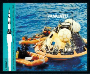 [102257] Vanuatu 1989 Space travel weltraum Apollo 11 Souvenir Sheet MNH