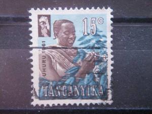 TANGANYIKA, 1961, used 15c, Definitive