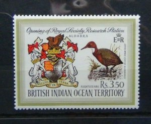 BIOT 1971 Opening of Royal Society Research Station Aldabra set MNH