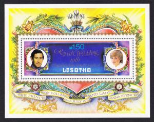 Lesotho Charles and Diana Royal Wedding MS SG#MS454 MI#Block 9A SC#337A