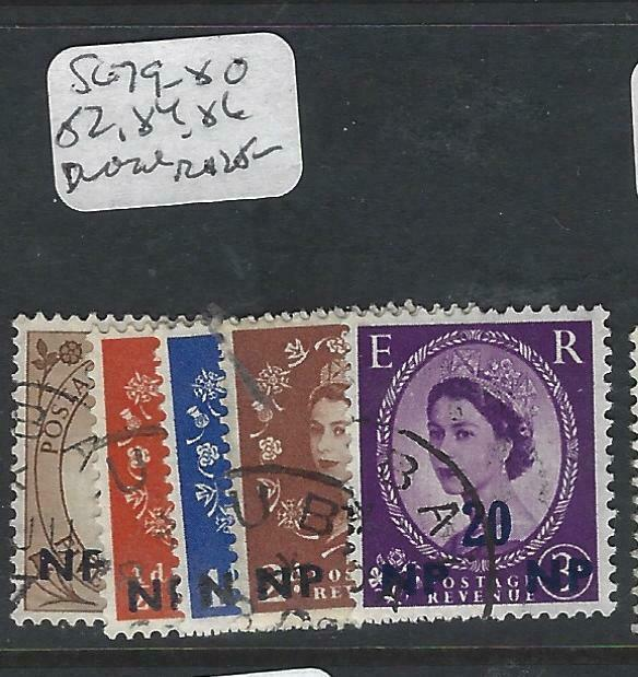BRITISH P.O. MIDDLE EAST (P0603B) QEII  CANCEL  DUBAI  SG 79-80, 82,         VFU