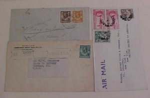 NORTHERN RHODESIA  1934,1947 TO USA INCLUDES SCARCE 1/2D CIRCULAR RATE