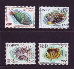 Belgium Sc B832-5  1968 Antwerp Zoo Fish stamp set mint NH
