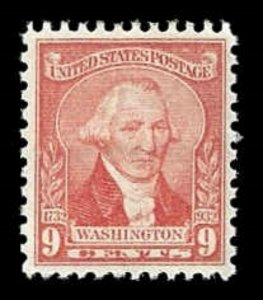 US # 714 9c Washington, pale red, MNH