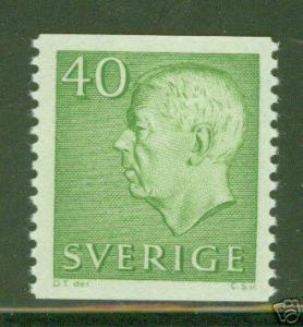 SWEDEN Scott 578 MNH*1961 Gustaf VI coil stamp  CV $1.10