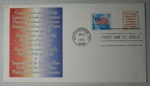 US FDC Sc# 2521 Fleetwood Washington DC 1991
