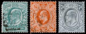 Great Britain Scott 143, 144-145 (1909-11) Used/Mint LH F-VF, CV $60.25 C
