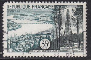 France 838 Hinged Used 1957 Bordeaux