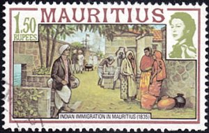 Mauritius # 457 used ~ 1.50r Indian Immigrants