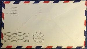 US First Flight Cover AM 81 Okmulgee TX to Dallas TX 10/10/49 #C40 L19
