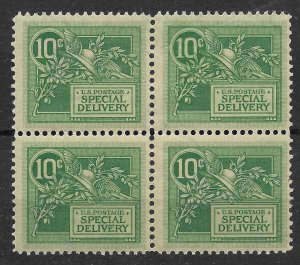 Doyle's_Stamps: MNH Block of 4 -- 1908 10c Special Delivery Stamp -- Scott #E7**