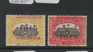 Dominican Republic SC 194, 196 Overprint Shift/split MOG (2dvt)