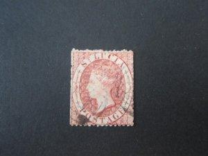 St Lucia 1860 Sc 1 FU
