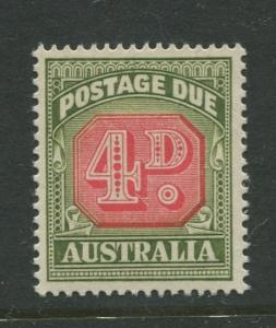 Australia - Scott J89 - Postage Due Issue -1958- No Wmk - MNH -Single 4d stamp