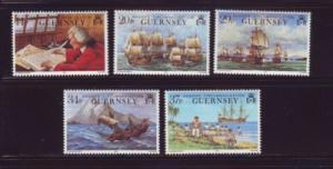 Guernsey Sc 436-40 1990 Ansons Circumnavigation  stamps m...