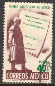 MEXICO 962 Sesquicent of First Mexican Constitution Used. F-VF. (73)