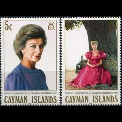 CAYMAN IS. 1988 - Scott# 602-3 Princess Visit Set of 2 NH