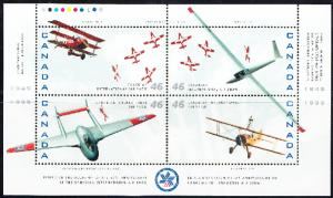 CANADA # 1807 Mint NH  Souvenir sheet - aircrafts