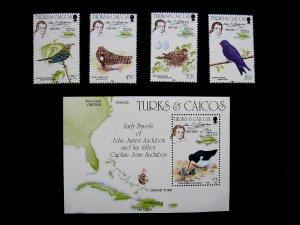 TURKS & CAICOS ISLANDS - SCOTT# 651-654,655 - CS - MNH - CAT VAL $17.50