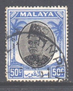Malaya Selangor Scott 91 - SG107, 1949 Sultan 50c used