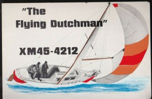 QSL QSO RADIO CARD  The Flying Dutchman, Brampton, ON Canada (Q242)
