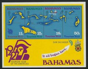 Bahamas 1972 Tourism Year S/S Sc# 343 NH