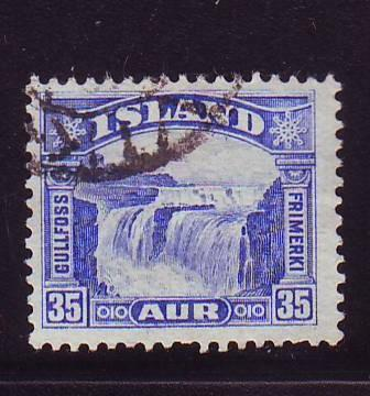 Iceland Sc 172 1931 35 a Gullfoss stamp used