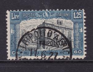 Tripolitania (Italian) the used 1.25L + 60c from the 1927 set
