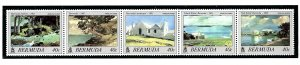 Bermuda 519-23 MNH 1987 from booklet pane (been folded)    (ap1485)