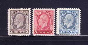 Canada 196-197, 199 MNH King George V