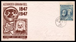 Canada 247 Alexander Graham Bell Cachet Craft Boll Pencil FDC