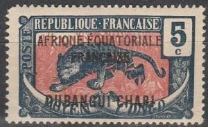 Ubangi-Chari #44 F-VF Unused (V3114)