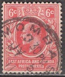 East Africa & Uganda 1907: Sc. # 33: O/Used Single Stamp