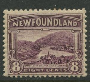 Newfoundland -Scott 137 -Pictorial Definitive Issue -1923 - MH -Single 8c Stamp
