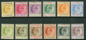 CYPRUS-19014-10  A mounted mint set to 45pi, light gum toning Sg 60-71