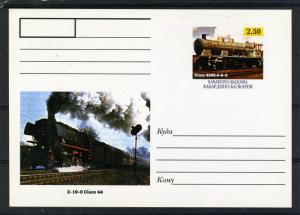 Kabardino-Balkaria Republic Trains Locomotives Classic Postcard