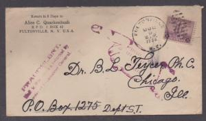**US 20th Cent Fradulent Mail Cover, Cent of Progress, Fultonville, NY 7/6/1933
