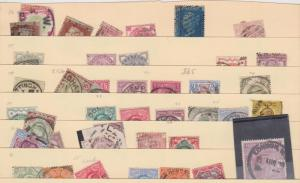 Great Britain - Lot of About 41 used Stamps 1841-1911