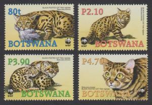 Botswana MNH 1040-3 Black Footed Cat WWF 2005 SCV 4.90