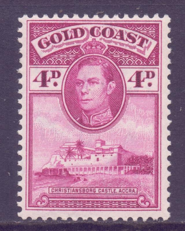 Gold Coast Scott 120 - SG125a, 1938 George VI 4d MH*