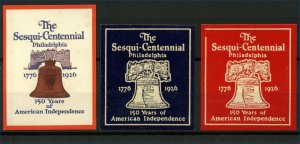 USA The Sesqui-Centennial 1776 to 1926 of American Independence Phil Cinderellas