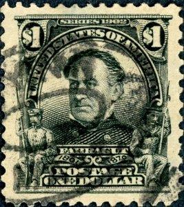 #311 – 1903 $1 Farragut, black.  Used Avg.