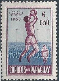 Paraguay 557 (mhr) 50c Olympics, basketball (1960)