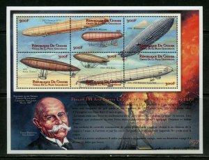 GUINEA 100th ANNIVERSARY THE FIRST ZEPPELIN FLIGHT  SHEET MINT NH
