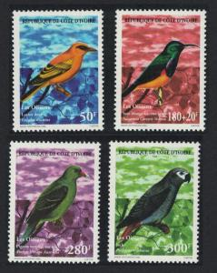 Ivory Coast Oriole Sunbird Pigeon Parrot Birds 4v 1999 MNH SG#1207-1210 CV£5.65