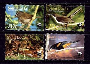 St Lucia 1132-35 MNH 2001 Birds