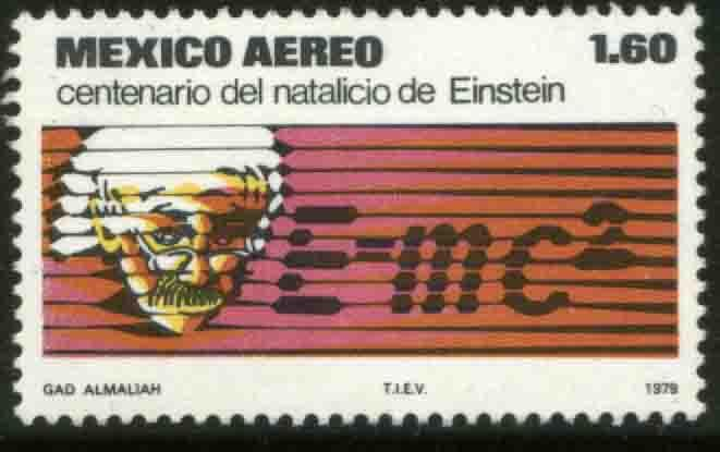 MEXICO C592 Centenary birth of Albert Einstein. MINT, NH. F-VF.