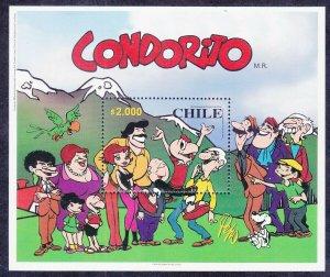 Chile 1320 MNH 2000 MNH CONDORITO Celebrating Millennium Souvenir Sheet VF