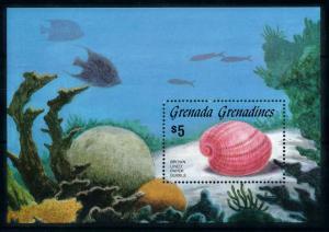 [99664] Grenada Grenadines 1986 Marine Life Sea shell Fish Souvenir Sheet MNH